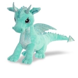 Willow dragon sparkle tales plush by Aurora teal